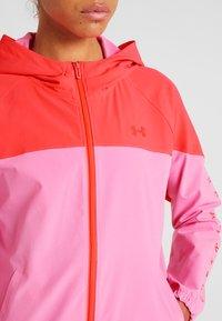Under Armour - HOODED JACKET - Sports jacket - lipstick/beta - 5
