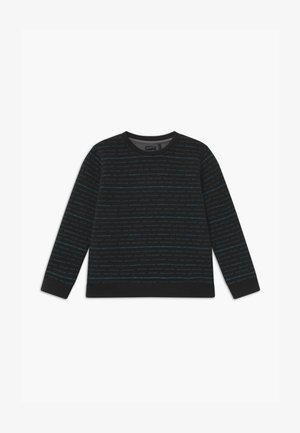 REVERSIBLE BLACK GREY STRIPE - Mikina - noir/granit chiné
