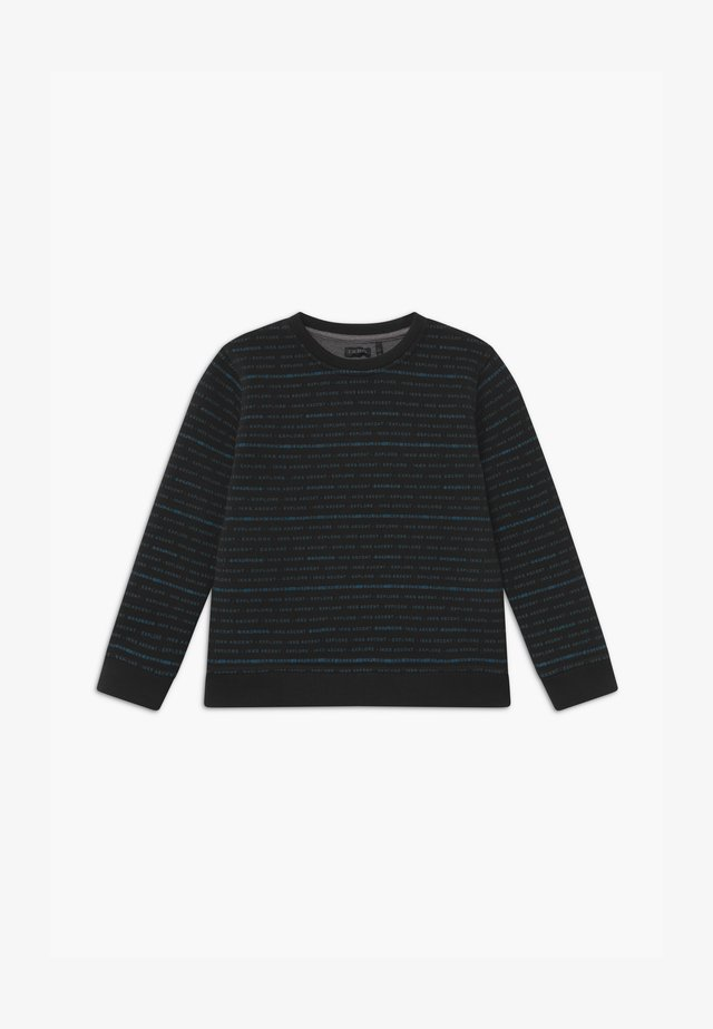 REVERSIBLE BLACK GREY STRIPE - Sudadera - noir/granit chiné