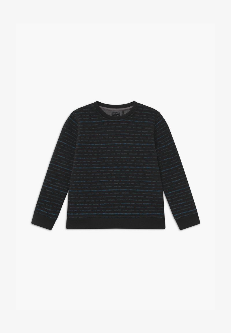 IKKS - REVERSIBLE BLACK GREY STRIPE - Sweatshirt - noir/granit chiné