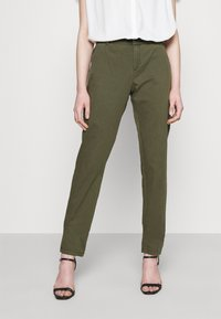 Vero Moda - VMFLASH BELT COLOR PANT - Trousers - ivy green - 0