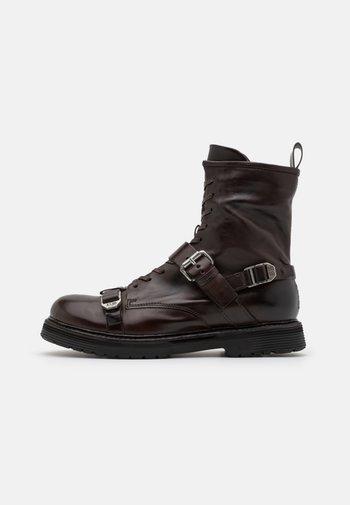 REPUNK - Cowboy/biker ankle boot - fondente
