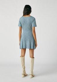 PULL&BEAR - Day dress - stone blue denim - 2