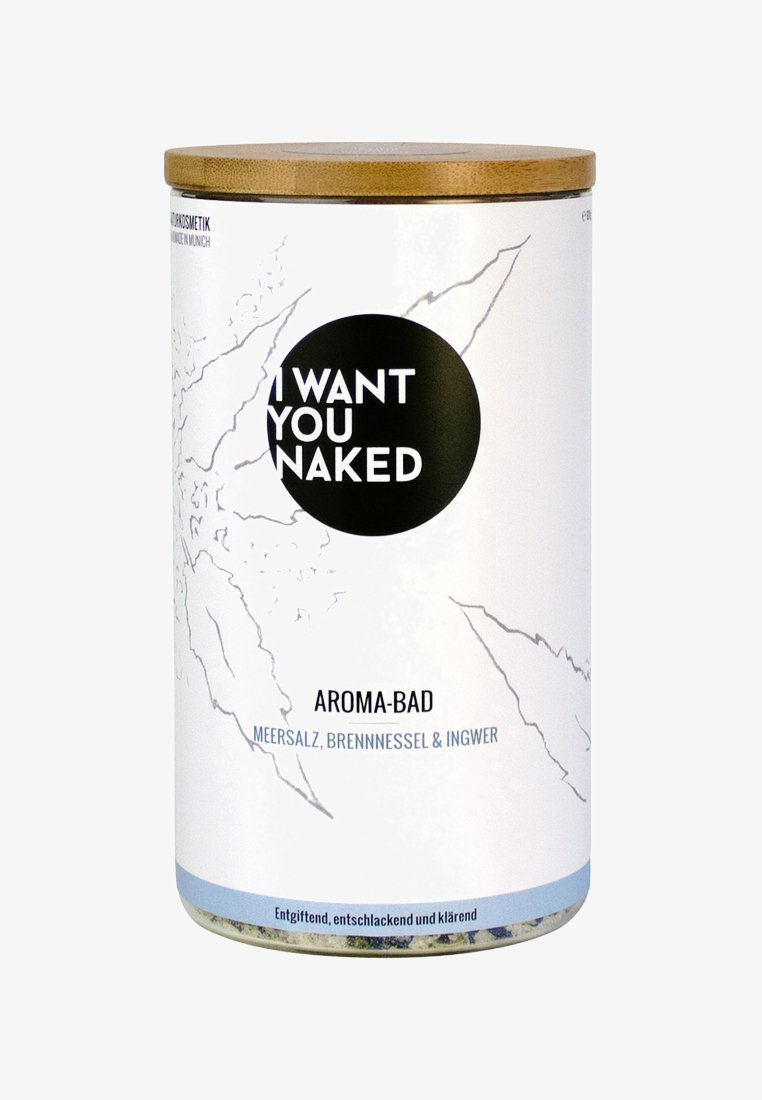 I WANT YOU NAKED - AROMA BATH - Badschuim - brennnessel & ingwer