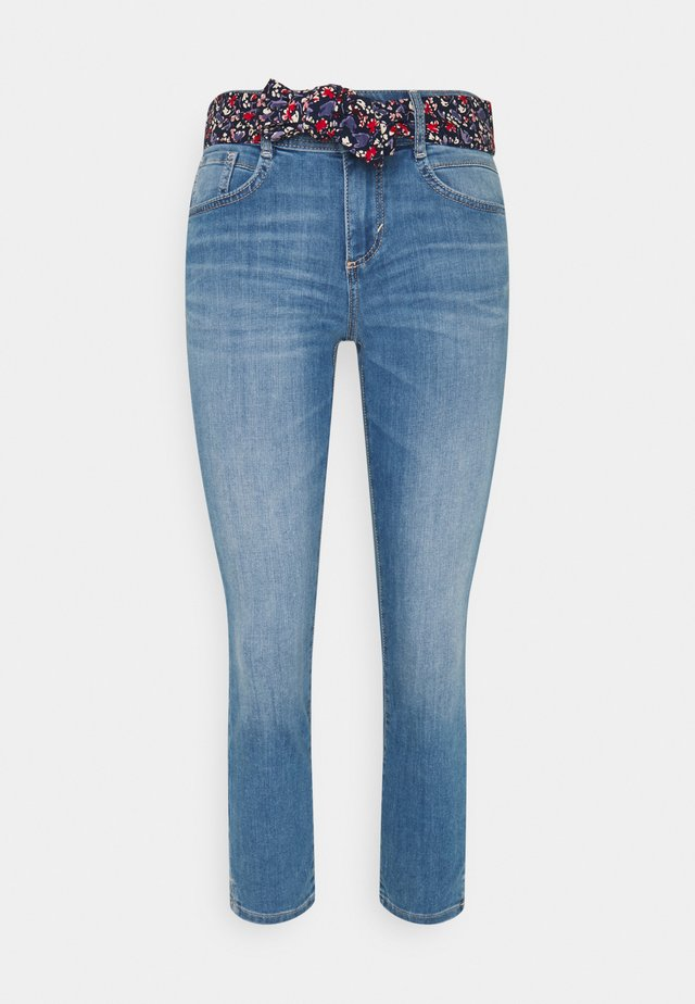 ALEXA CROPPED - Jeans slim fit - used light stone blue denim