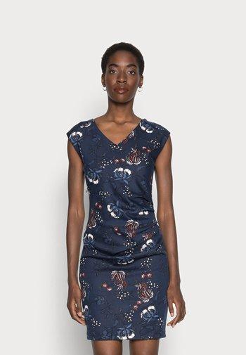 MALLY INDIA DRESS - Shift dress - midnight marine