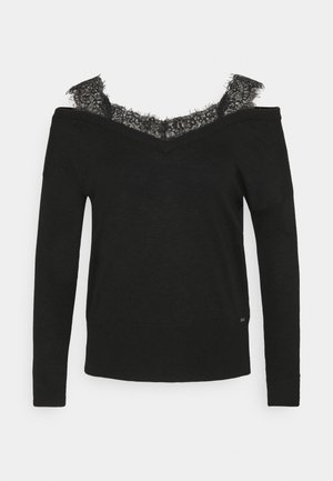 ORIELLA V-NECK - Jumper - jet black