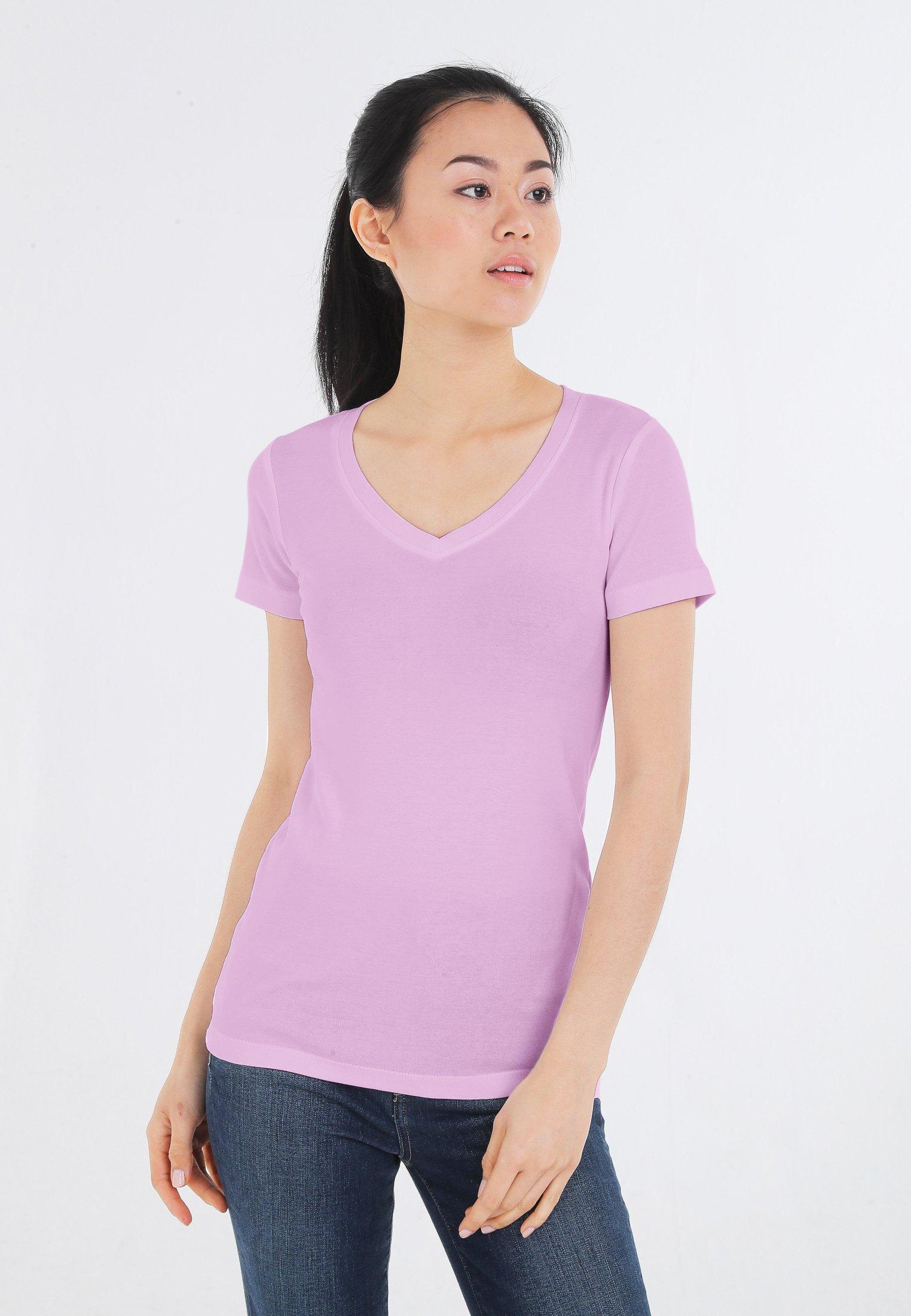 Damen MIT V-AUSSCHNITT - T-Shirt basic