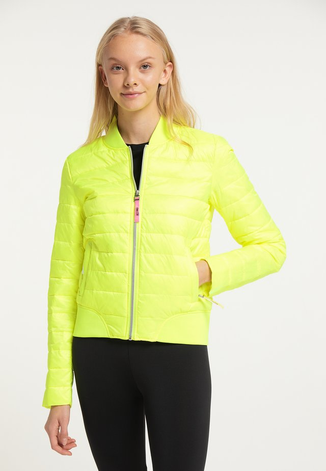 Winter jacket - neon gelb