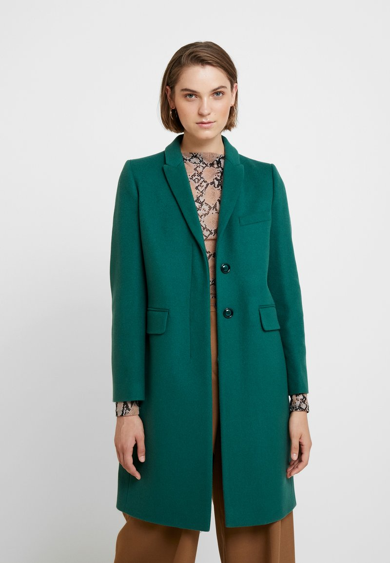 Benetton - CLASSIC TAILORED COAT - Kappa / rock - dark green