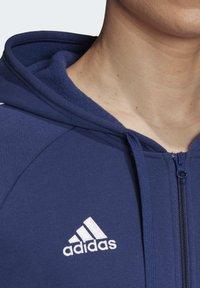 adidas Performance - CORE 19 HOODIE - veste en sweat zippée - blue - 6
