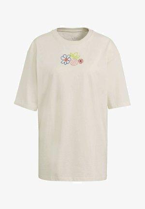 ADICOLOR ESSENTIALS T-SHIRT - T-shirt z nadrukiem - white