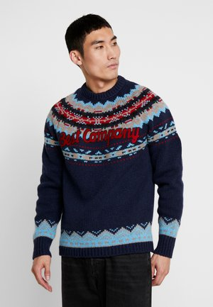 CREW NECK FIN - Jumper - navy