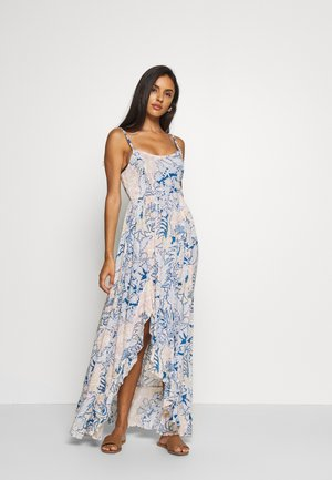 FOREVER YOURS SMOCKD SLIP - Maxi dress - blue