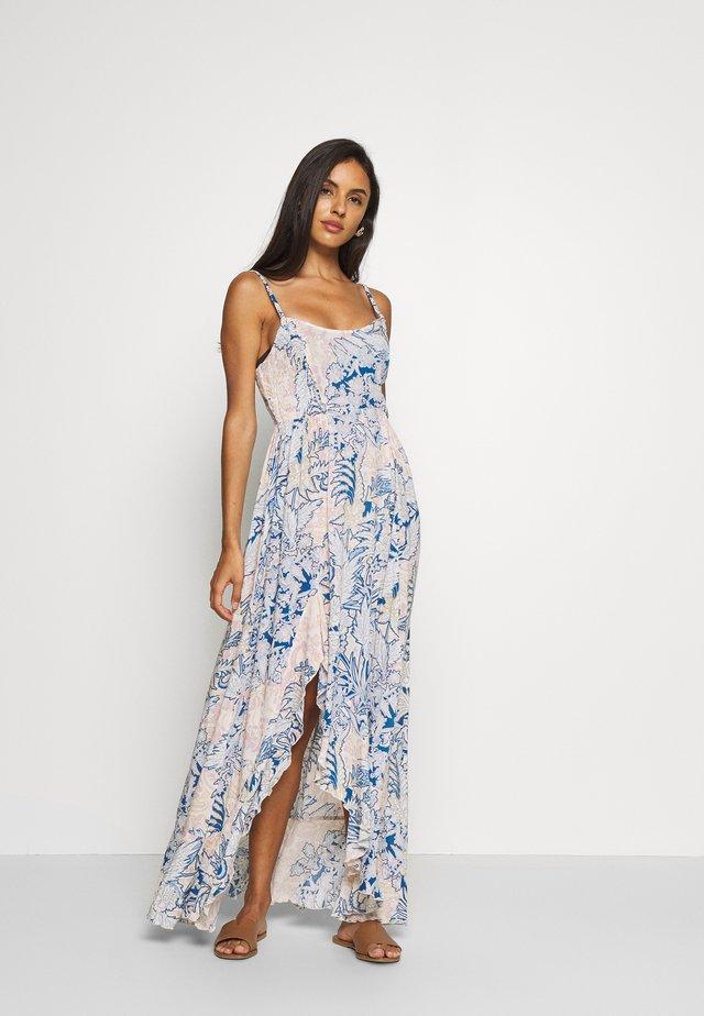 FOREVER YOURS SMOCKD SLIP - Maxi dress - blue