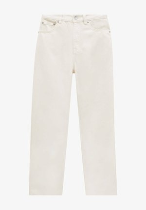 Relaxed fit jeans - mottled beige