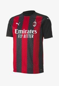 Puma - AC MILAN HOME REPLICA  - Club wear - tango red black - 0