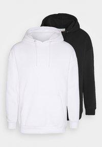Pier One - 2 PACK - Hoodie - white/black - 6