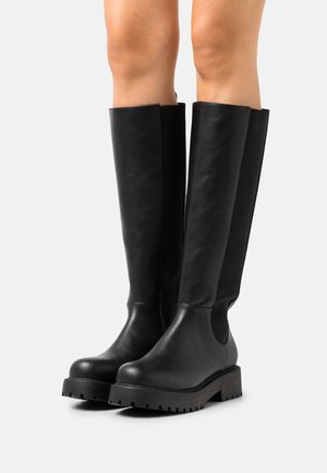 EDITH BOOT VEGAN - Platform boots - black dark