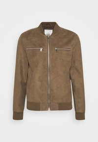 RRRAFAEL JACKET - Faux leather jacket - dark brown