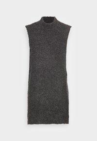 PCFREE O NECK MINI DRESS - Jumper dress - dark grey melange