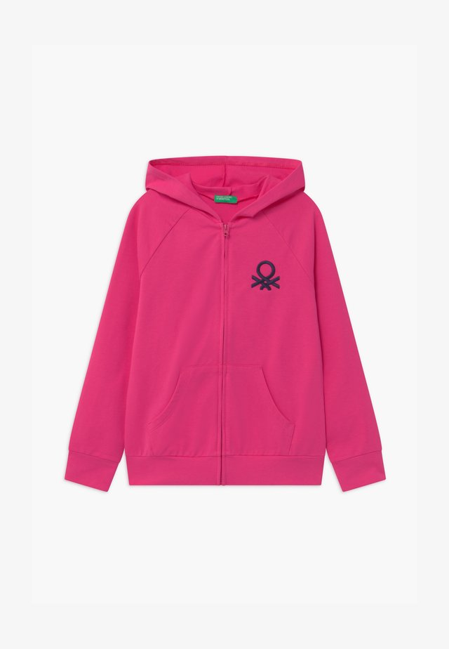BASIC GIRL - Mikina na zip - pink