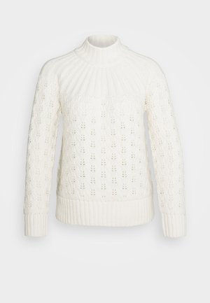 HANNAH STITCH MOCKNECK - Jumper - antique cream