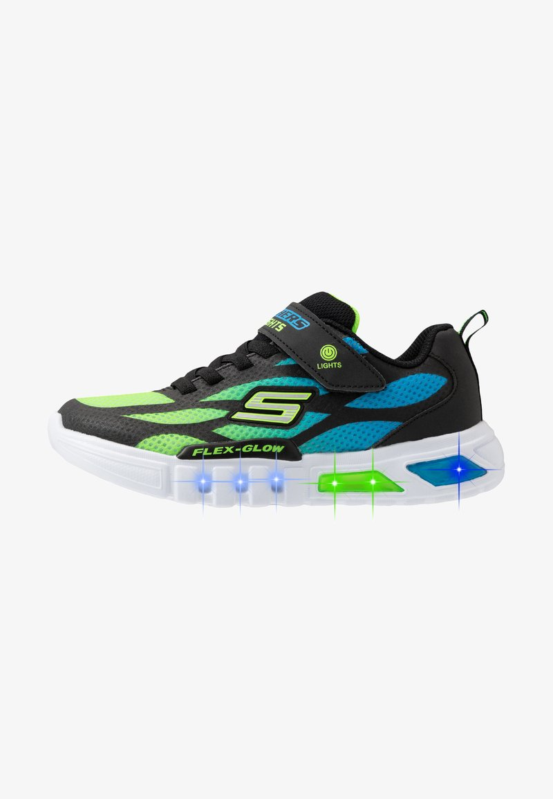Skechers - FLEX-GLOW - Tenisky - black/blue/lime