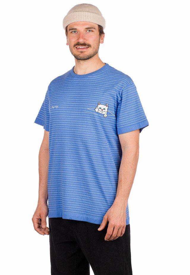 Print T-shirt - baby blue