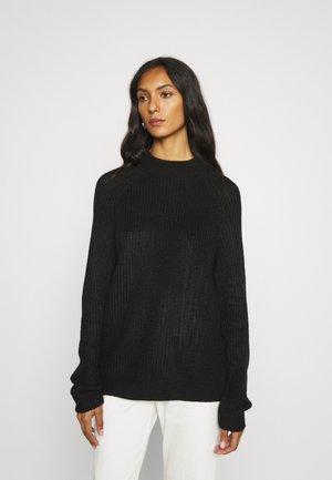VMLEA LS HIGHNECK BLOUSE - Jersey de punto - black