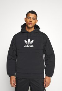 adidas Originals - HOODY UNISEX - Light jacket - black - 0