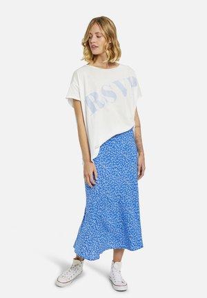 A-line skirt - royal print
