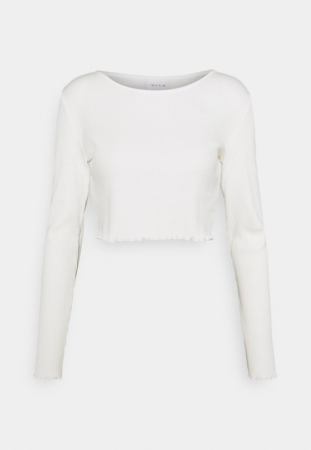 VIBALU CROPPED - Long sleeved top - snow white
