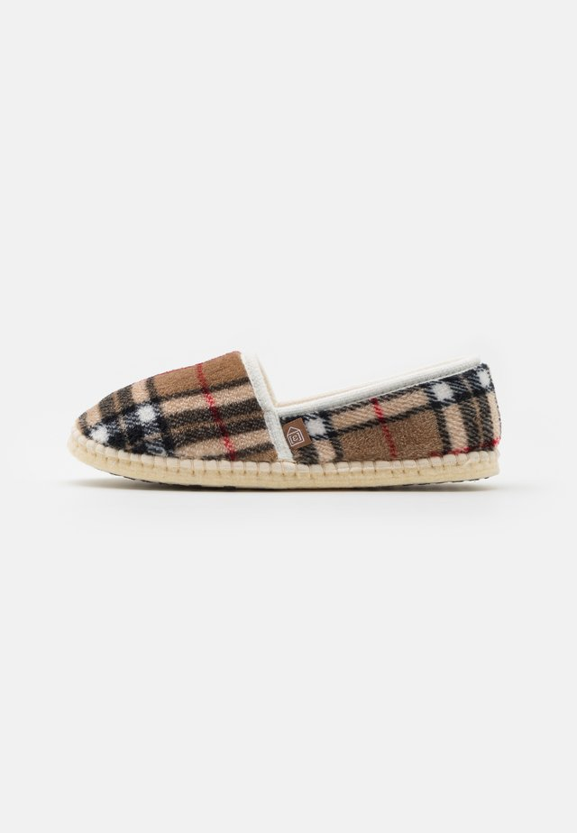 PANTOUFLE CLASSIC CHECK UNISEX - Slippers - beige
