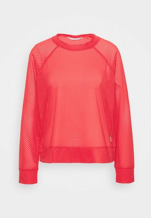 HONEYCOMB CREW NECKLONG SLEEVE PULL OVER - Top s dlouhým rukávem - radiant red