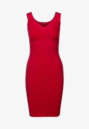V NECK BANDAGE DRESS - Sukienka etui - dark crimson