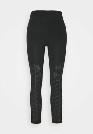 UNIVERSAL SEAMLESS 3/4 LEGGING - Leggings - black
