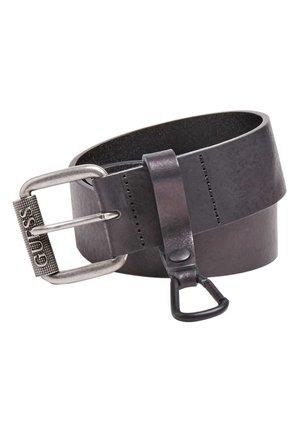 GÜRTEL LEDER SCHNALLE - Belt - schwarz