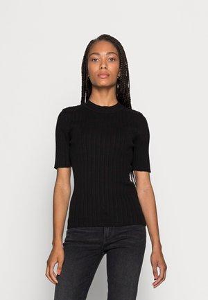 SLFQUEEN  O-NECK  - T-shirt basic - black