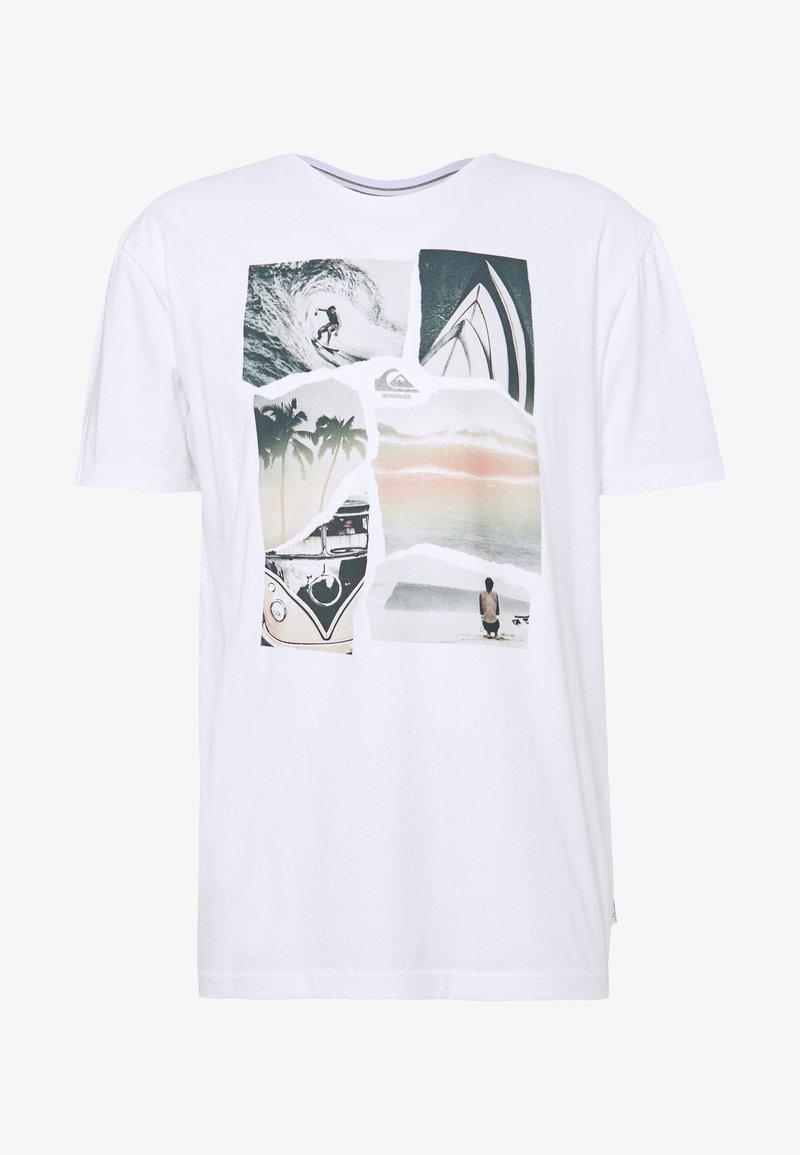 Quiksilver - TORN APART - Print T-shirt - white