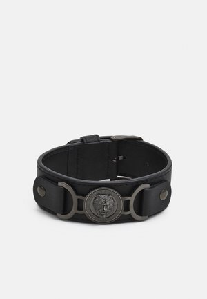 LION COIN WIDE BRACELET - Náramek - gunmetal/black