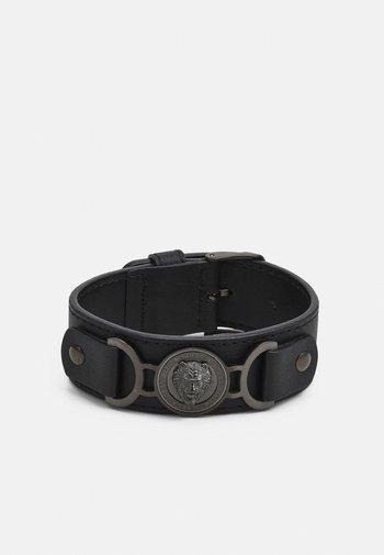 LION COIN WIDE BRACELET - Bracelet - gunmetal/black