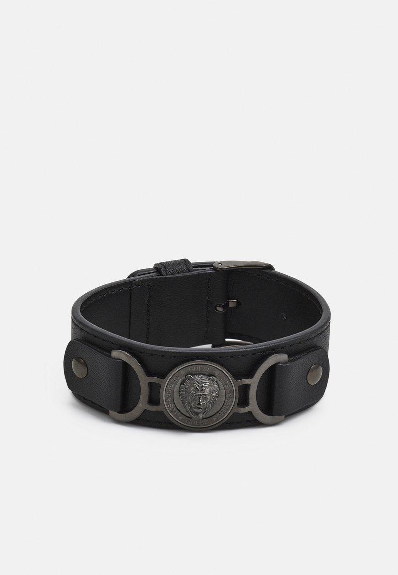 Guess - LION COIN WIDE BRACELET - Rannekoru - gunmetal/black