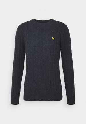 CABLE JUMPER - Svetr - dark navy marl