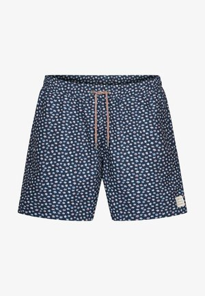 BADESHORTS MINIMAL-PRINT SIMON - Swimming shorts - blue
