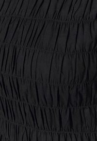 Dorothy Perkins - SHIRRED BODY LONG SLEEVE BLACK FLORAL TOP - Blouse - black - 2