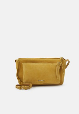 LEATHER - Across body bag - mustard yellow