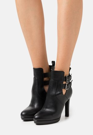 VEGAN RAMONA - High heeled ankle boots - black