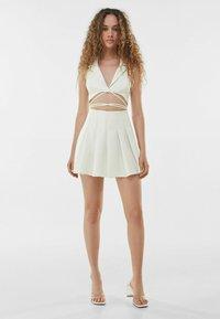 Bershka - Cocktail dress / Party dress - white - 1