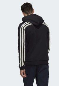 adidas Performance - WINTER 3-STRIPES FULL-ZIP HOODIE - Zip-up hoodie - black - 1
